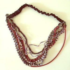 NWOT Maison Michel bead and metal chain headband